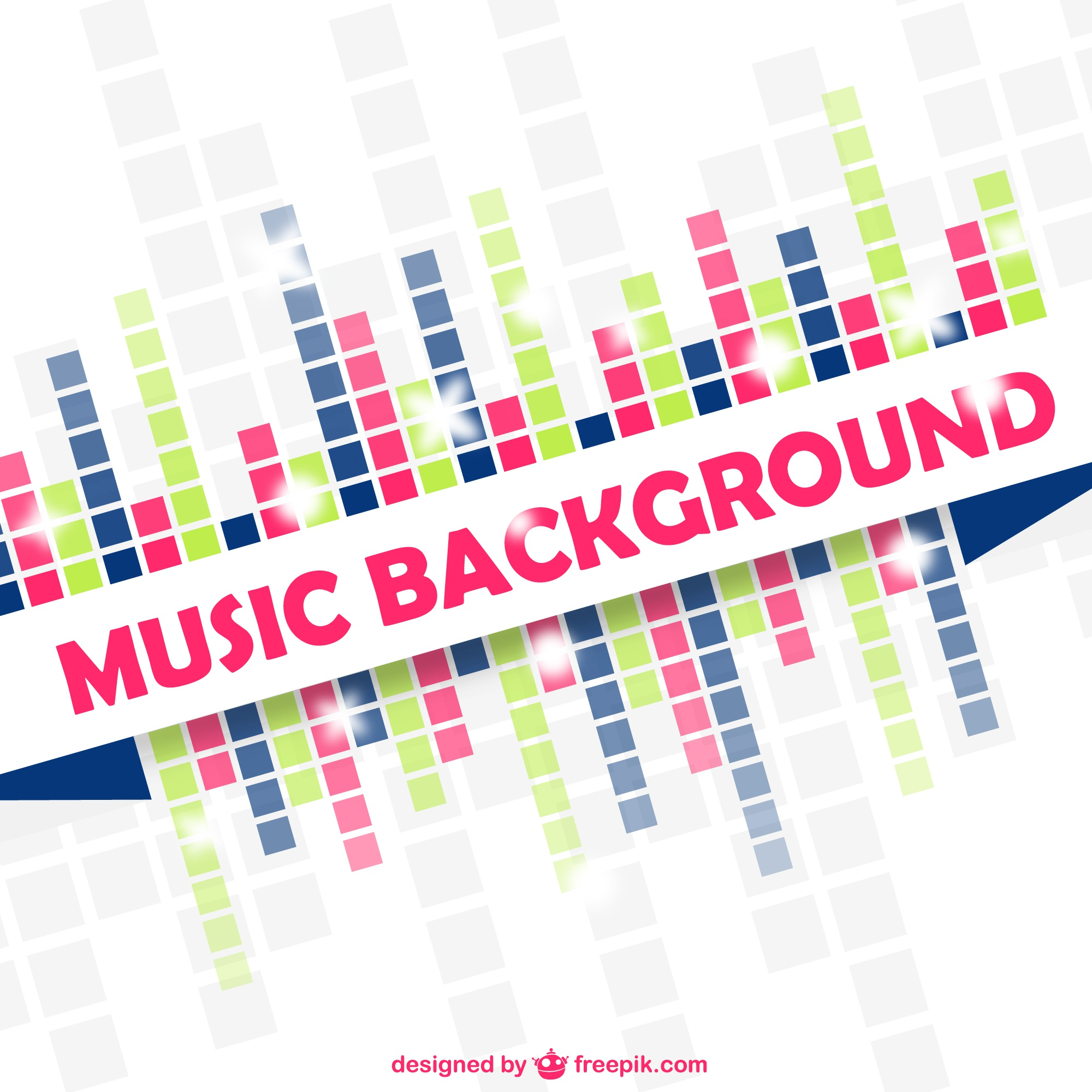 Music vector equalizer colorful design