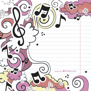 Musical drawing vector