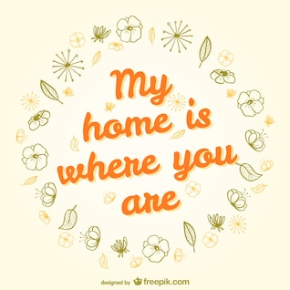 My home is where you are design