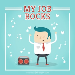 My job rocks cartoon vector