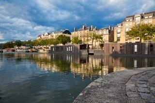 Nantes riverside scenery  colors