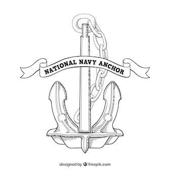 National navy anchor