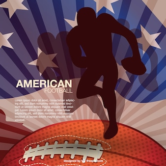 National sport American football background