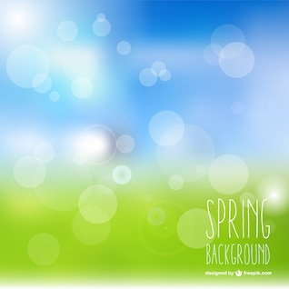 Natural bokeh spring vector