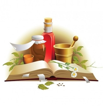 Natural herbal medicine vector