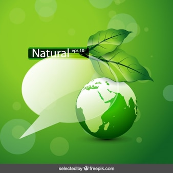 Nature background with bubble speech