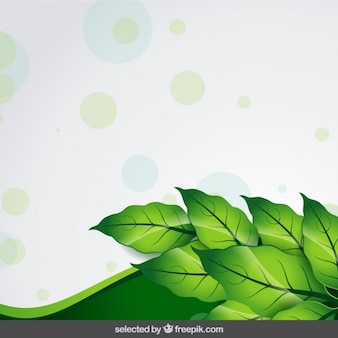 Nature background with dots and wave