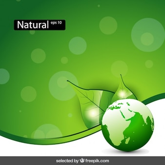 Nature background with globe
