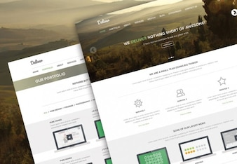 Nature landscape PSD template