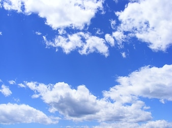 Nature summer day clouds sky fluffy