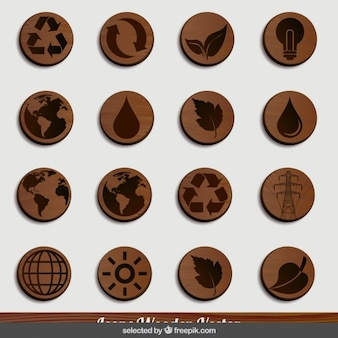 Nature wooden icons