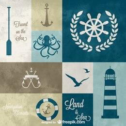 Nautical graphics elements