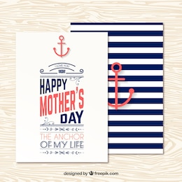 Nautical mothers day greeting card