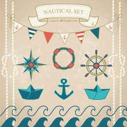 Nautical vector set