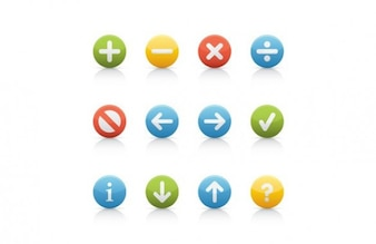 Navigation buttons colorful round shaped
