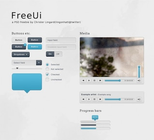 neat set of ui web elements psd