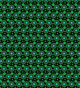 Neon circles with petals seamless pattern