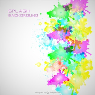 Neon color splash background