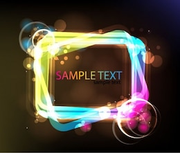 neon glowing light frame vector graphic