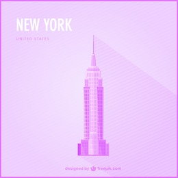 New York free landmark illustration