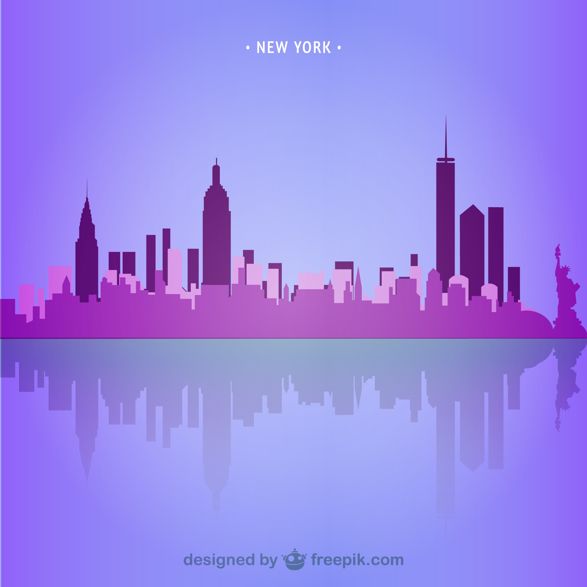 New York skyline illustration