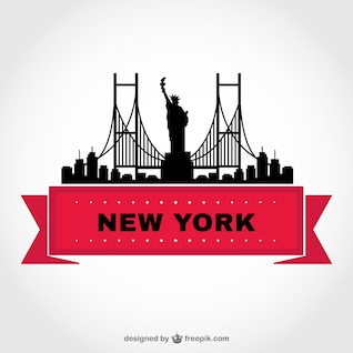 New York skyline vector template
