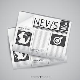 Newspaper vector graphics