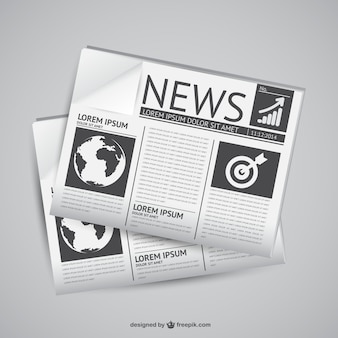 Newspaper vector graphics