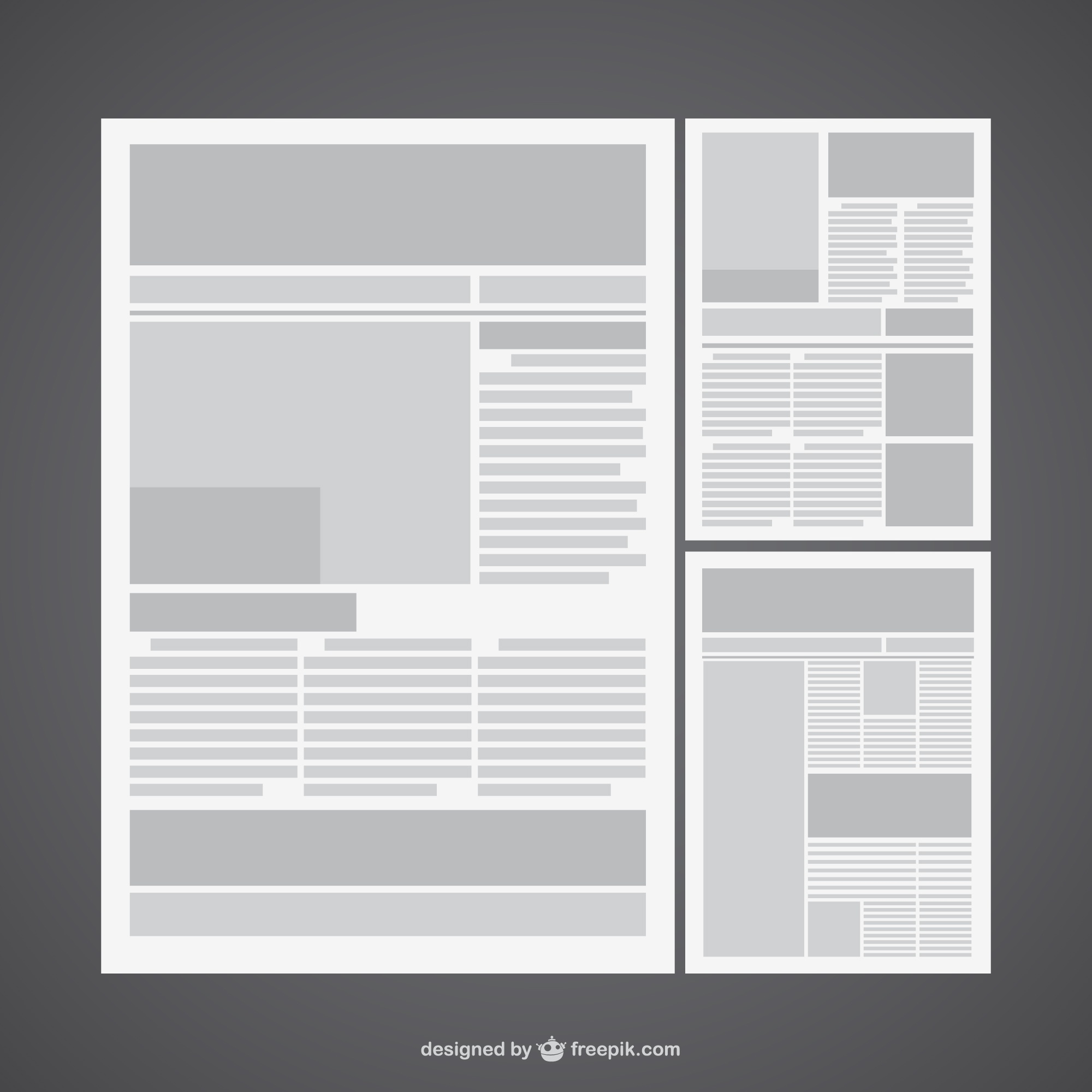 Newspaper vector layout