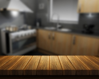 Nice wood in a kitchen