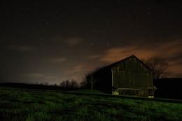 Night over the barn