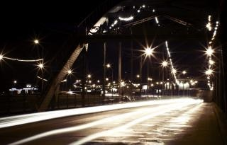 night scene  bridge