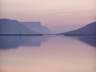 Nightfall in Vestfjords Iceland
