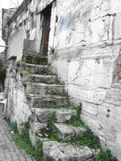 Not used for decades stone steps