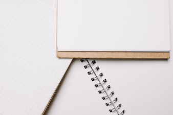 Notebooks with blank pages
