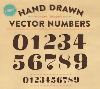 Number fonts vector artwork