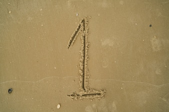 Number written in the sand