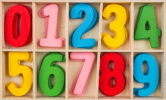 Numbers in different colors