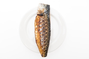 Nutrition ocean mackerel tail grilled