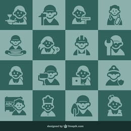 Occupation icons and people icons