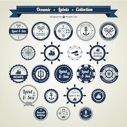 Ocean and sea nautical badges