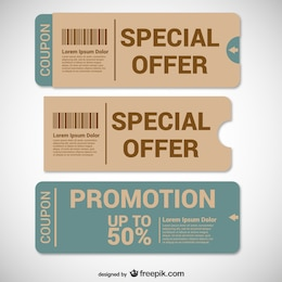 Offer coupons templates