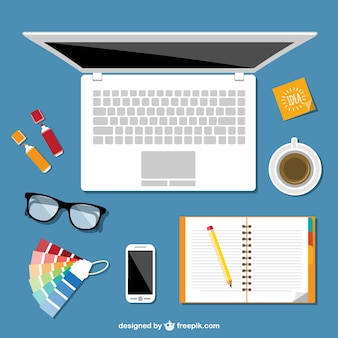 Office vector flat illustration