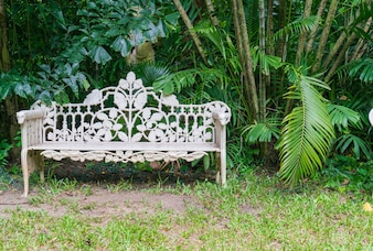 Old bench in park