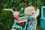Old bicycle decorated