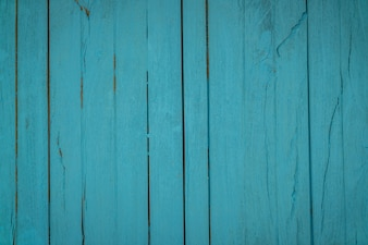 Old blue wood background .