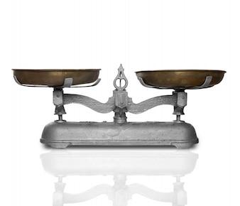 Old metal balance to weigh