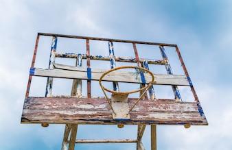 Old outdoor basketball . ( Filtered image processed vintage effe