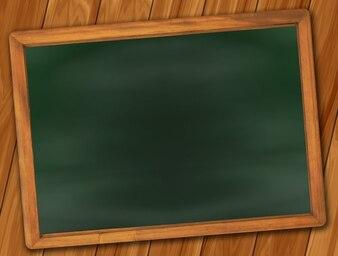 Old plate empty blackboard chalk school leave