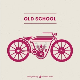 Old-school motorcycle free vector